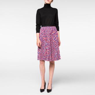 Women's 'Half-Heart' Print Pleated Skirt $375 thestylecure.com