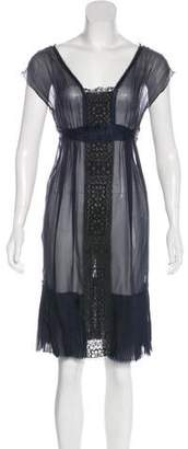Alberta Ferretti Silk Sheer Dress