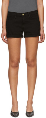 Frame Black Cuffed Le Cut Off Shorts