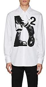 DSQUARED2 Men's Boot-Graphic Cotton Poplin Shirt