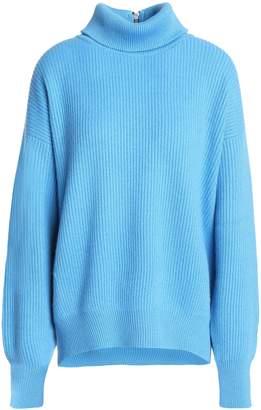 Brunello Cucinelli (ブルネロ クチネリ) - Brunello Cucinelli サテントリム カシミヤ タートルネックセーター