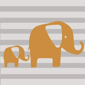 Glenna Jean Sweet Potato by Rhythm 2 Piece Orange Elephant Wall Decal Set