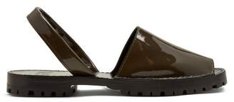Goya - Patent Leather Slingback Sandals - Womens - Khaki