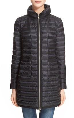 Women's Moncler Bogue Water Resistant Long Down Jacket $1,095 thestylecure.com