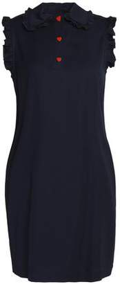 Love Moschino Ruffle-Trimmed Twill Mini Dress