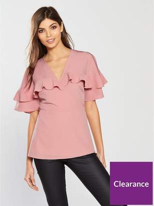 Very Frill Wrap Top