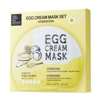 too cool for school Egg Cream Mask - 5 Pack