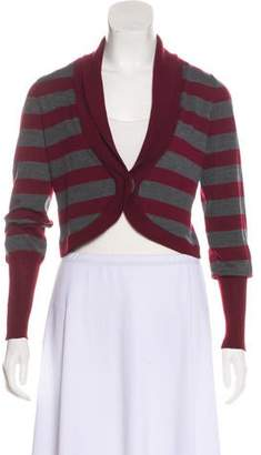 Brunello Cucinelli Wool Striped Shrug