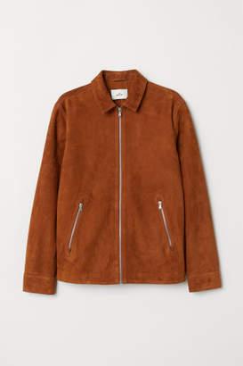 H&M Suede Shirt Jacket - Beige