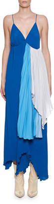 Unravel Strappy Tri-Tone Draped Crepeon Dress