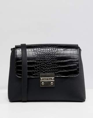 Carvela faux croc shoulder bag