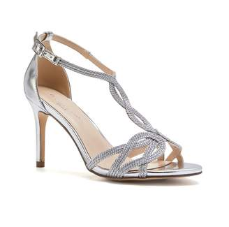 Barely There Paradox London Hilton Silver High Heel Knotted Sandals