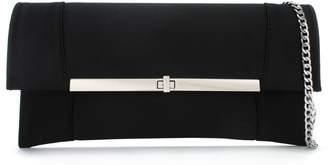 Daniel Afleck Black Satin Envelope Clutch Bag