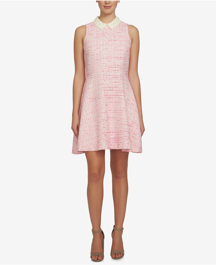 CeCeCeCe Melody Tweed Fit & Flare Dress