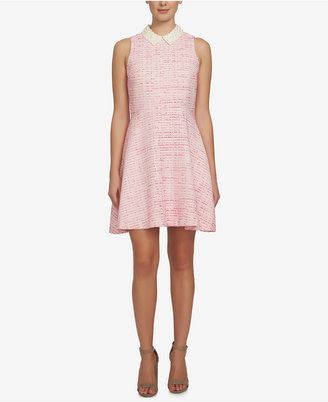 CeCe Melody Tweed Fit & Flare Dress $148 thestylecure.com