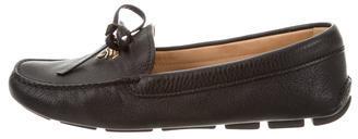 pradaPrada Leather Logo Loafers