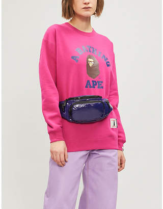 Swarovski BAPE College crystal-embellished cotton-blend sweatshirt
