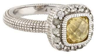 Judith Ripka Canary Crystal & White Sapphire Ring silver Canary Crystal & White Sapphire Ring