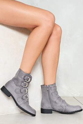 Nasty Gal I Stud Corrected Faux Leather Boot