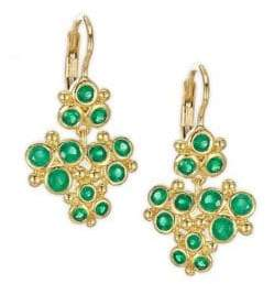 Temple St. Clair Cluster Trio Emerald Earrings