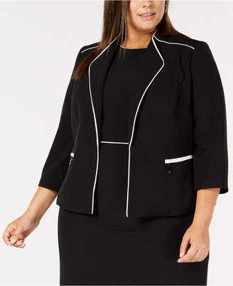 4d20a9e87b9 Kasper Black Plus Size Jackets - ShopStyle