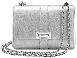 Aspinal of London Small Lottie Bag In Smooth Chanterelle Natural Python