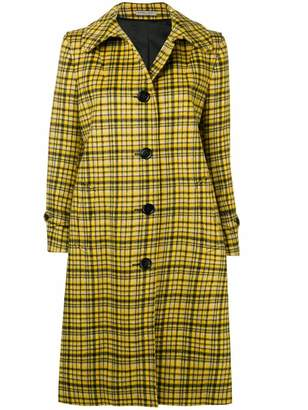 Bottega Veneta plaid coat