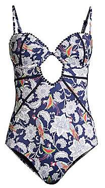ef411e74da OndadeMar Women's Paisley Underwire One-Piece Swimsuit