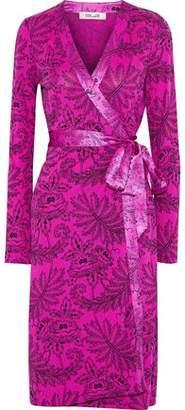 Diane von Furstenberg Cybil Satin-Trimmed Floral-Print Silk-Jersey Wrap Dress