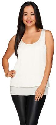 Halston H By H by Woven Double Layer Sleeveless Top