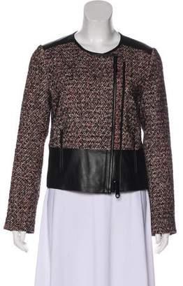 Rebecca Minkoff Tweed Zip-Up Jacket