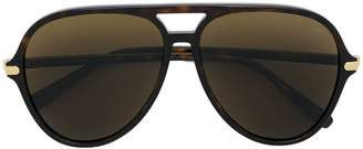 Brioni aviator shaped sunglasses