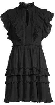 Kate Spade Women's Glitzy Ritzy Bakery Dot Devore Dress - Black - Size 0