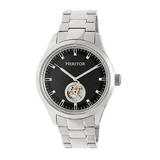 Heritor Unisex Silver Tone Bracelet Watch-Herhr7002