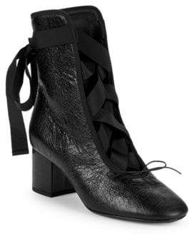 Valentino Lace-Up Booties