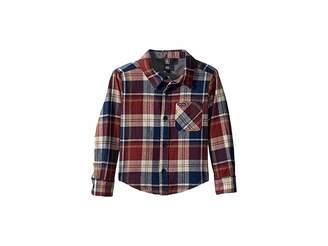 Volcom Caden Plaid Long Sleeve Flannel Shirt (Toddler/Little Kids)
