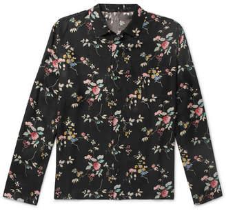 Haider Ackermann Floral-Print Twill Shirt