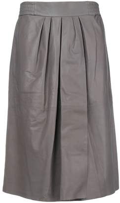 Agnona lamb skin swing skirt