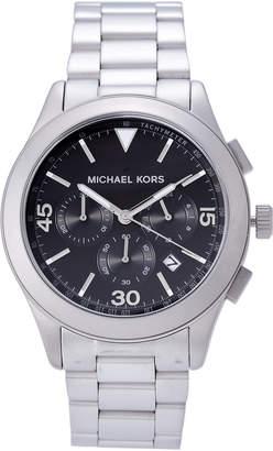 Michael Kors MK8469 Silver-Tone & Black Watch