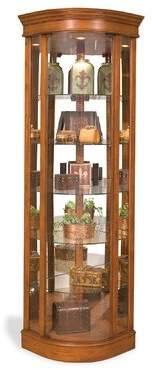 Philip Reinisch Co. Auberge Lighted Corner Curio Cabinet Philip Reinisch Co.