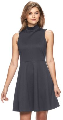 Women's Apt. 9® Mockneck Fit & Flare Dress $50 thestylecure.com