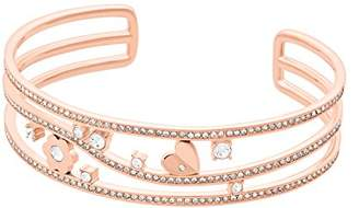 Michael Kors Womens -Tone Flower Bangle Cuff Bracelet