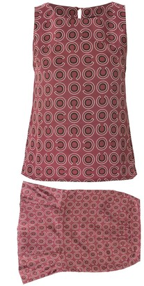 Chanel Pre-Owned 2001 geometric print two-piece set