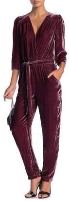 Young Fabulous & Broke Bellows Velvet Jumpsuit