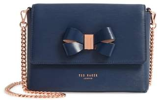 Ted Baker Bowii Bow Mini Bark Leather Crossbody Bag