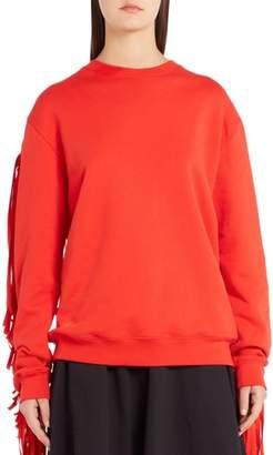 MSGM Fringe Detail Sweatshirt