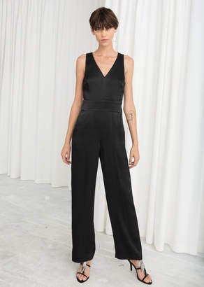 And other stories Sleeveless Satin Jumpsuit