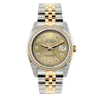 Datejust 36mm Gold gold and steel Watches