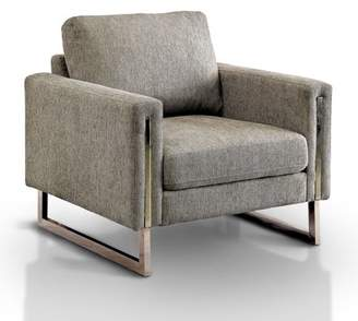 Melania Furniture of America Contemporary Arm Chair, Pewter