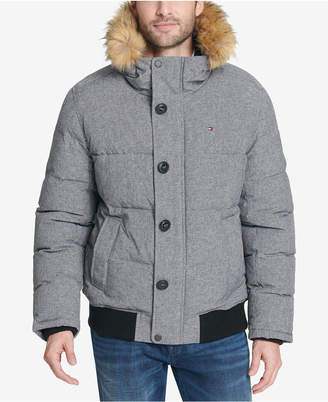 Tommy Hilfiger Men's Big & Tall Parka with Faux-Fur Trimmed Hood